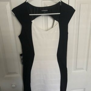NWT Express Black and White Dress